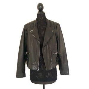 Marc Jacobs Black Leather Moro Jacket
